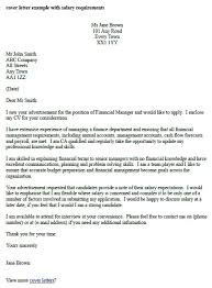 sample cover letter salary requirements salary requirement cover letter include salary requirements in cover