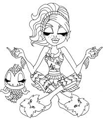 Small Picture Lagoona Blue And Pets Is Relaxation Coloring Pages Monster High