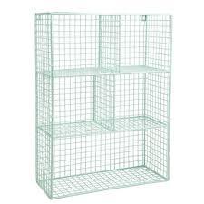 wire wall shelf mint