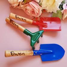 small personalised gardening set childs