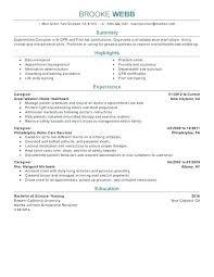 Sample Of Caregiver Resume Download Caregiver Resume Skills Sample