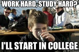 work hard, study hard? i'll start in college - Lazy Primary School ... via Relatably.com