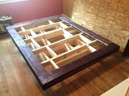 floating bed diy floating bed frame floating bed frame regarding thumb build up the headboard and