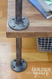 distressed industrial furniture. how to age galvanized metal and build your own industrial table distressed furniture f
