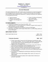 Sample Resume For Account Manager Position Inspiring Stock Project