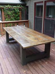 Homemade Dining Room Table Exterior