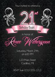 21st birthday invitation 21st birthday party invitation silver ornate party invite