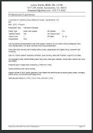 Pacu Nurse Cover Letter Sarahepps Com