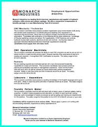 Machinist Resume Template awesome Writing Your Qualifications in CNC Machinist Resume A Must 81