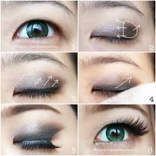 when doing a y eye with monolids applying your eye shadow higher to your brow bone angled up works best falsies help make your eyes pop even more