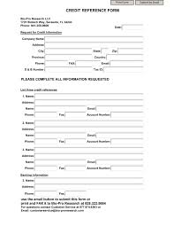 How To Check Credit References For Business Bank Credit Reference Form Template Application Voipersracingco
