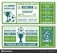 Soccer Lineup Templates Vector Tickets Template Soccer