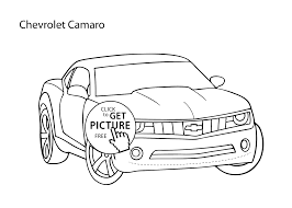 Small Picture Super car Chevrolet Camaro coloring page cool car printable free