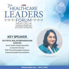 "eHEALTH Magazine on Twitter: ""Dr Priya Balasubramaniam Kakkar,Sr. Public  Health Specialist & Scientist/Dir.-PHFI-joins as key speaker #HLF_Delhi  https://t.co/QgjGEtcE4k… https://t.co/yxwC0gMFNK"""