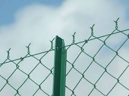 chain link fence post. T Post Chain Link Fence E