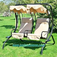 garden outdoor swing chair 2 swinging hammock patio chairs cushioned seat with tray wooden australia