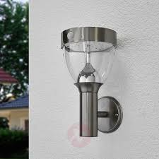 Rvs Led Lamp Op Zonne Energie Lenjo Voor Buiten Lampen24nl
