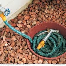 sunken hose pot garden hose storage