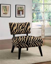 zebra print accent chair color