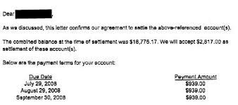my settlements sle debt settlement letters by rob jackson posted under debt settlement sle letters bank of america2 debt settlement letter