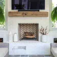 white brick fireplace rustic chunky fireplace mantel with flat panel white mantle red brick fireplace