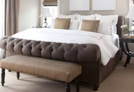 upholstered sleigh bed diy Contemporary and Classic Tufted Sleigh