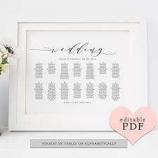 Seating Chart In Alphabetical Order Wedding Chart Seating Sada Margarethaydon Com
