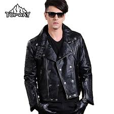 new lapels punk style motorcycle lambskin leathers coat genuine leather jacket men bling metal buckles chaquetas cuero hombre
