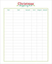 Printable Christmas Gift List Template 24 Christmas Wish List Template To Fill Out By Everyone