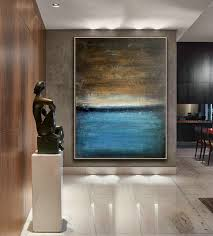 blue canvas art oil abstract art