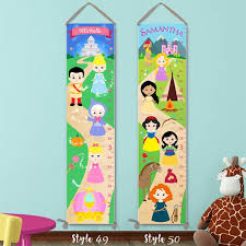 Kids Growth Charts Personalized On Canvas 50 Designs