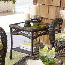 santa barbara mocha end table by pier1