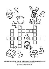 Kleurplaat Kruiswoordpuzzel Kleurplaat Spelletjes