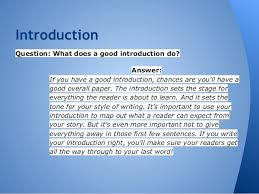 compare contrast essay 4 introductionquestion what does a good introduction