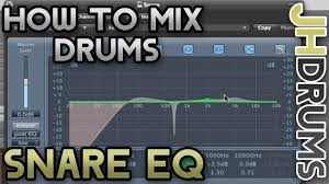 Snare Drum Eq How To Mix Drums Part 6 By Jhdrums