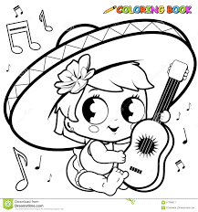 Small Picture Baby Girl Coloring Page Stock Illustration Image 50479150
