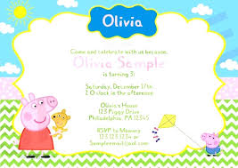 Olivia The Pig Birthday Invitations With Pig Birthday