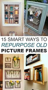 diytotry: 15 Smart Ways to Repurpose Old Picture Frames http://ift.