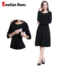 <b>Emotion Moms</b> Solid <b>Long</b> Sleeve Maternity Clothes Patchwork ...