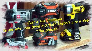 porter cable power tools. dewalt dcf885, porter cable pcc640, ridgid r86036 fun challenge - youtube power tools c