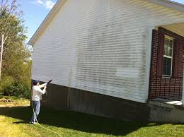 the best way to clean siding for painting is to use a garden sprayer aim the nozzle down because you don t want to force water up under the edges of the