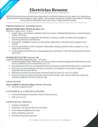 Sample Journeyman Electrician Resumes Journeyman Electrician Resume Examples Sample Letsdeliver Co