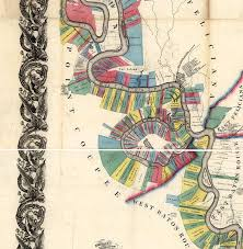 Lower Mississippi River Charts Chart Of The Lower Mississippi River From Natchez To New Orleans Showing Landowners Vintage Restoration Hardware Home Deco Style Reprint