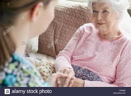 Homecare Nurse And Elderly Patient Stock Photo 100328545 Alamy