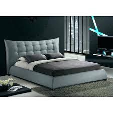 modern platform bed king. Platform Bed King Mid Century Modern Studio Grey Linen N