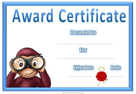 Award Certificate Template For Kids Free Printable Images ...