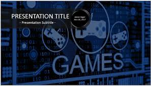 Powerpoint Template Gamer Video Game Powerpoint Templates Video Game