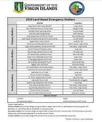 Emergency List Updated 2019 Emergency Shelter List Bviddm
