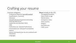 Resumes For Phds Phd Career Services Michigan State University