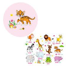 Jungle Adventure Dieren Muurstickers Voor Kids Nursery Kamers Baby Home Decor Poster Muurstickers Behang